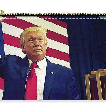 President Donald Trump Watercolor Portrait - Carry-All Pouch
