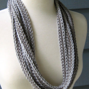 CrochetFiber Necklace Scarf by ArtsyCrochet