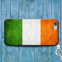 iPhone 4 4s 5 5s 5c 6 6s plus iPod Touch 4th 5th 6th Generation Green Orange White Country Flags Irish Ireland Europe Flag Case Phone Cover