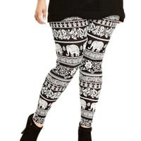Angie Plus Size Pants, Printed Leggings