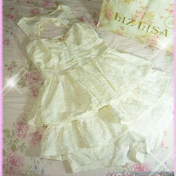 Liz Lisa Embroidered Lace Tunic Top & Sukapan /Skirt-Shorts Set from Kawaii Gyaru Shop