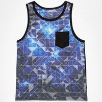 Blue Crown Geo Space Age Mens Tank Black  In Sizes