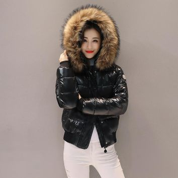Women's Winter Warm Cotton Padded Parkas Jackets