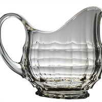 Chequered Glass Water Jug Antique English circa 1900