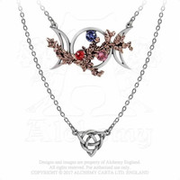 Alchemy Gothic Wiccan Goddess Of Love Moon Pendant Necklace