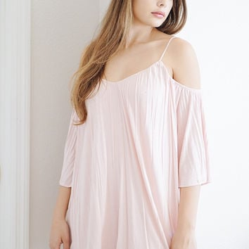 Light Pink Cold Shoulder Dress