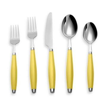 Silversmiths Fiesta 5-Piece Flatware Place Setting in Sunflower