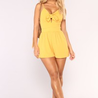 Your Daily Romper - Mustard