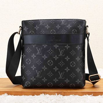 LV Louis Vuitton Fashion New Monogram Check Print Women Men Business Casual Shoulder Bag Briefcase