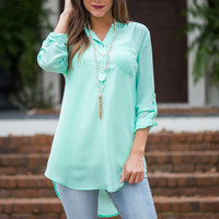 Say You're Mine Blouse, Mint