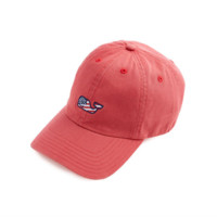 Vineyard Vines Whale Flag Baseball Hat - Jetty Red