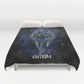 Digital Wyvern Dragon Skyrim iPhone 4 4s 5 5c, ipod, ipad, pillow case tshirt and mugs Duvet Cover by Three Second