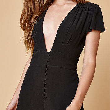 Honey Punch Button Front Romper at PacSun.com