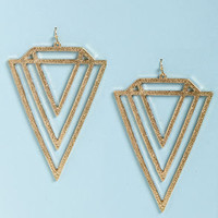 V Totaler Gold Triangle Earrings