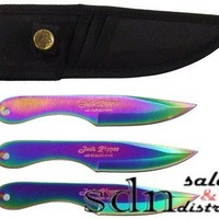 JACK THE RIPPER TRIPLE SET RAINBOW THROWING KNIVES