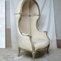 1960's French Hooded Canopy Chair
