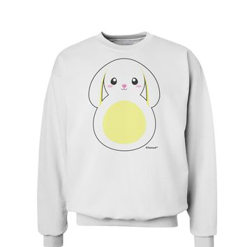 Cute Bunny with Floppy Ears - Yellow Sweatshirt by TooLoud