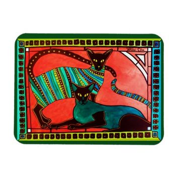 Legend of the Siamese - Whimsical Cat Art Rectangular Photo Magnet