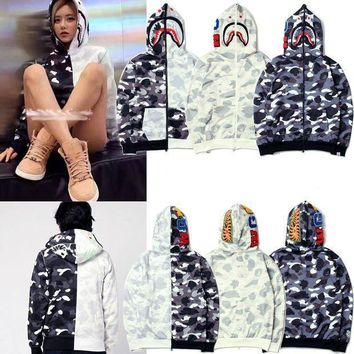 Bape X Shark Yin Yang Black White Hoodie (3 Colours Available)