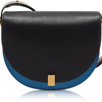 Victoria Beckham Multimaterial Half Moon Box Shoulder Bag