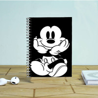 Mickey Mouse Black White Photo Notebook Auroid