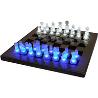 LED Glow Blue and White Chess Set - #K9048 | LampsPlus.com