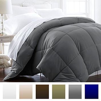 Lightweight Hotel Quality Comforter and Hypoallergenic  -King/Cali King - Gray