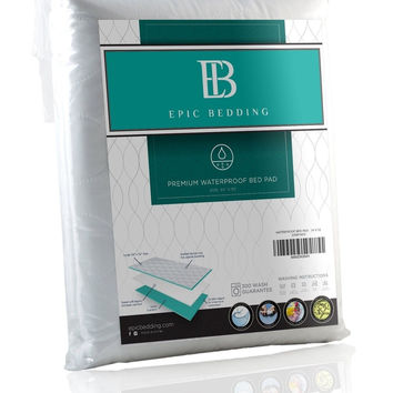 Waterproof Bed Pad - Incontinence / Bed Wetting Pad - Protector For Mattress ...