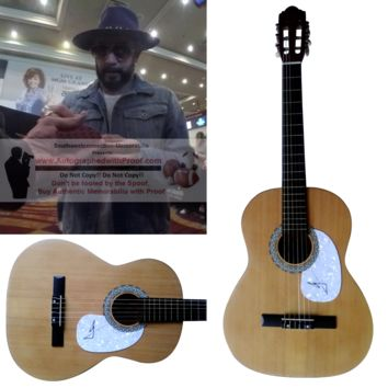 A.J. McLean Autographed Full Size 39 Inch Country Music Acoustic Guitar, Backstreet Boys, Proof Photo