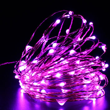 2M 20 LED Copper String Lights Fairy Lights Battery Operated Ultra Thin String Wire for DIY Christmas Trees Lighting Decorative