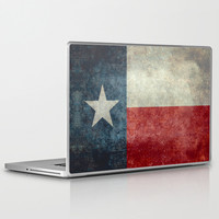 Texas state flag, Vertical retro vintage version Laptop & iPad Skin by LonestarDesigns2020 - Flags Designs +