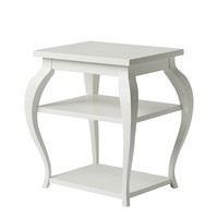 Vera Side Table – White | Serena & Lily