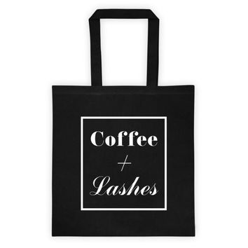 Coffee + Lashes - Tote Bag
