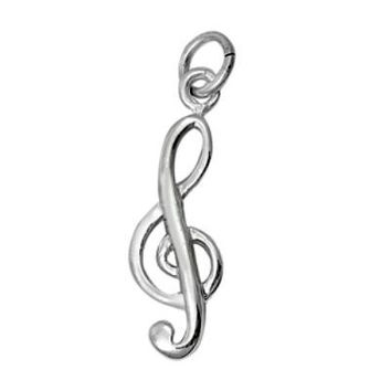 Sterling Silver Music Note G Clef Musical pendant