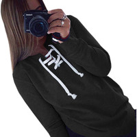 Autumn Winter 2017 Women Hoodies Sweatshirt Casual Long Sleeve Solid Hoodie For Women 7 Colors Plus Size Hollow Out Hoody GV333