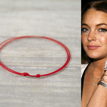 Red String Bracelet Kabbalah Thread Lucky Charms