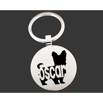 Yorkshire Terrier Dog Keychain   Dog Lover Gifts