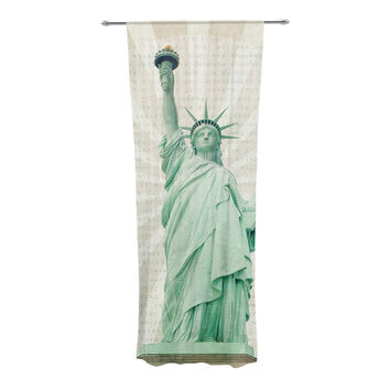 "Catherine McDonald ""The Lady"" Statue of Liberty Decorative Sheer Curtain"