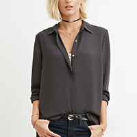 Collared Woven Blouse