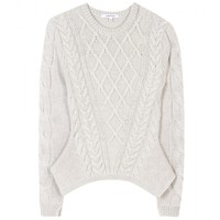 Cable-Knit Wool Pullover ☆ Carven | mytheresa