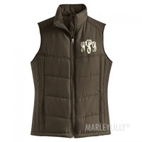 Monogrammed Puffy Vest | Marley Lilly