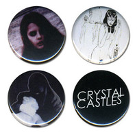 Crystal Castles Merchandise Store - Crystal Castles Miscellaneous 2013 Button Set