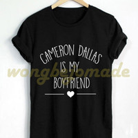 Cameron Dallas Shirt Black Grey Maroon and White Color Tshirt
