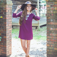 Simply Solid with Button Sleeve in Maroon