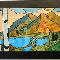 Wall Decor Abstract Mountains, Wood by GalleryatKingston on Zibbet