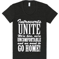 Introvert Humor - Funny Slightly Anti-social Shyness Humor-T-Shirt