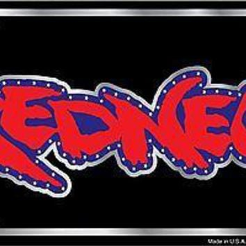 REDNECK Novelty Stamped Metal 6x12 AUTO License Tag CAR TRUCK