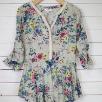 Floral Fit & Flare Tunic Top