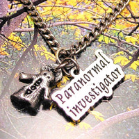 Paranormal Investigator  ghost  necklace
