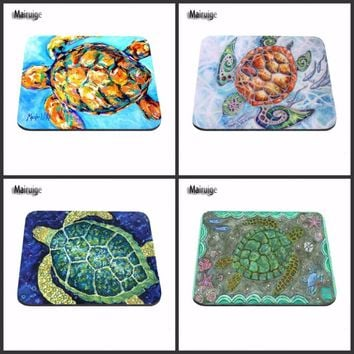 Mairuige Funny One Piece Luxury Printing Cute The Real Ninja Turtle Cute New Optal Mouse Soft Comfort Mouse Pad Mat Me Pad